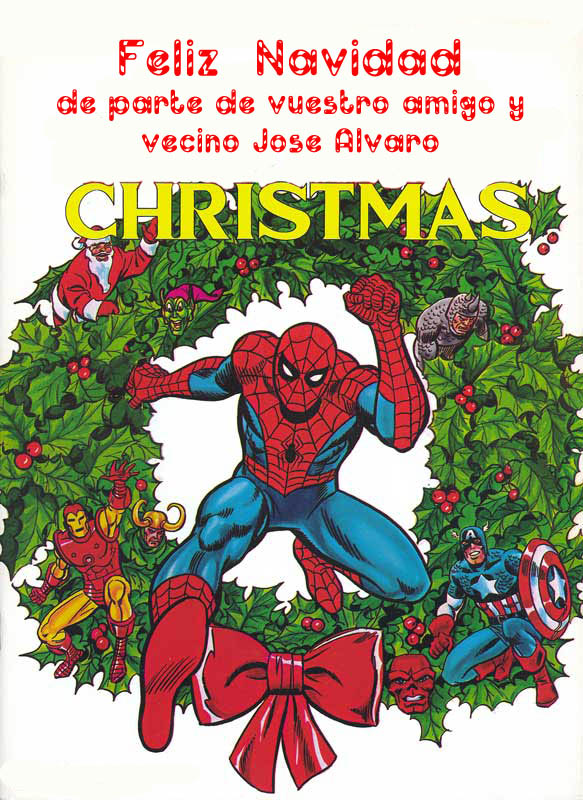 CHRISTMAS card marvel 01
