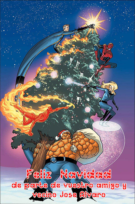 CHRISTMAS card marvel