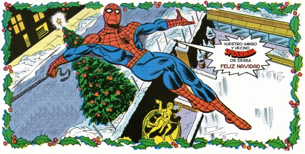 Spider-Man Christmas greetings